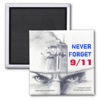 9 11 nunca olvida el imán