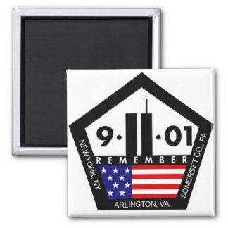 9 11 nunca olvidan, recuerdan siempre iman para frigorífico