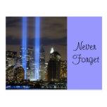 9 11 nunca olvidan, recuerdan siempre postal