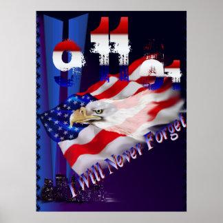 9 11 nunca olvidaré el poster