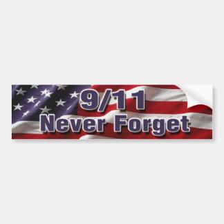 9/11 nunca olvide a la pegatina para el parachoque etiqueta de parachoque