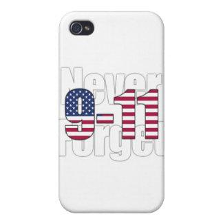 9-11 nunca olvide iPhone 4 cárcasa