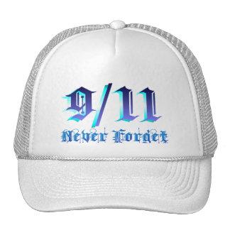 9-11 nunca olvide gorro de camionero