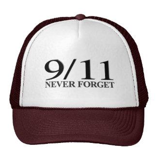 9/11 nunca olvide gorros bordados