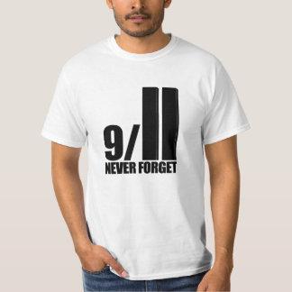 9-11 nunca olvide la camiseta playeras