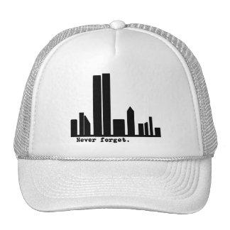 9-11 nunca olvide las camisetas del horizonte de N Gorras