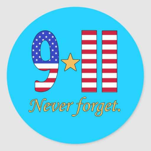 9-11 nunca olvide los productos pegatina redonda