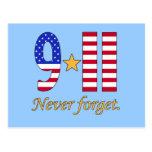 9-11 nunca olvide los productos postales