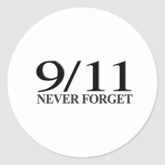 9/11 nunca olvide etiqueta redonda