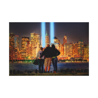 9-11 NYC Tribute in Light Canvas Print