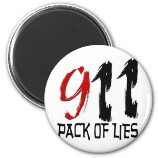 9/11 Pack of Lies 2 Inch Round Magnet
