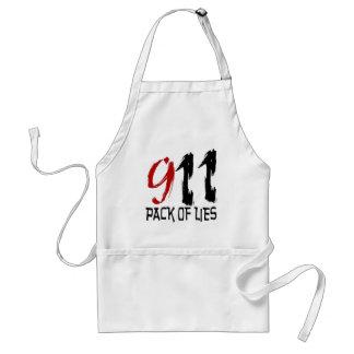 9/11 paquete de mentiras delantal