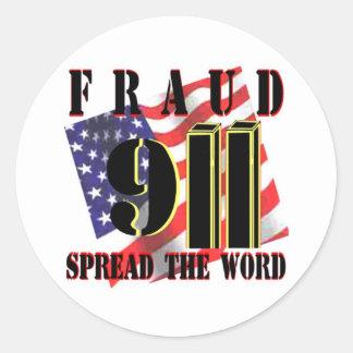 9/11 pegatina del fraude