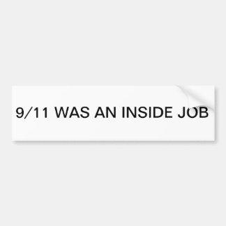 9/11 pegatina para el parachoques del trabajo inte pegatina para auto