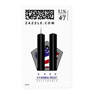 9/11 proyecto conmemorativo - logotipo de estampillas