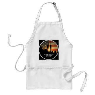 9-11 remember - We will never forget Adult Apron