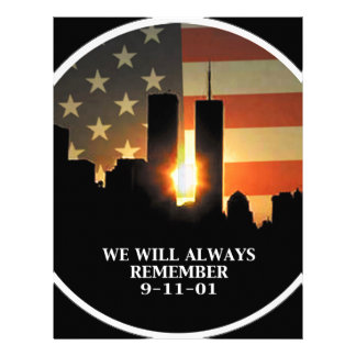 9-11 remember - We will never forget Letterhead