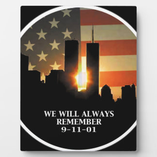 9-11 remember - We will never forget Plaque