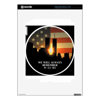 9-11 remember - We will never forget Skin For iPad 2