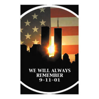 9-11 remember - We will never forget Stationery