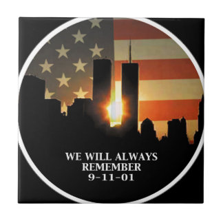 9-11 remember - We will never forget Tile