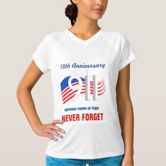 9/11 September 11th -10th Anniversary Athletic Tee
