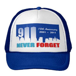9/11 September 11th - 10th Anniversary Trucker Hat