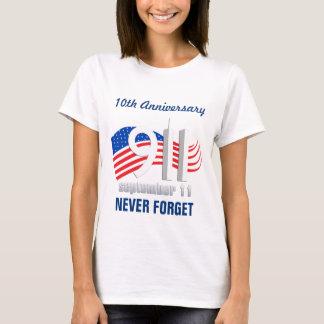 9/11 September 11th Flag - 10th Anniversary Tshirt