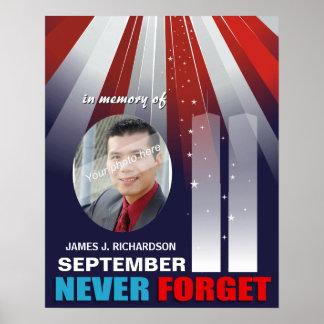 9/11 Setpember 11th Memorial Large Photo Poster