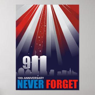 9/11 Setpember 11th Never Forget Poster