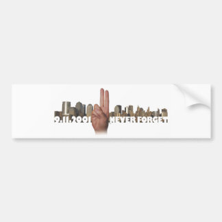 9/11 Skyline Memorial Symbol Bumper Sticker