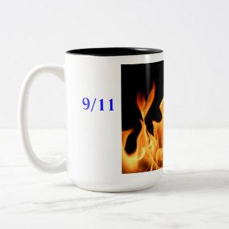9/11 taza de café conmemorativa