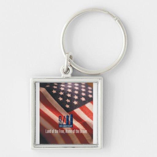 9/11: Tierra del hogar libre del llavero valiente