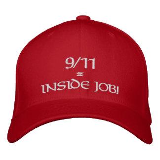 9/11 trabajo interior Red Hat Gorras Bordadas