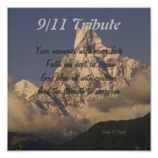 9/11 tribute prints poster