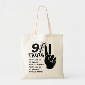 9-11 Truth No Peace Without Justice Tote Bag