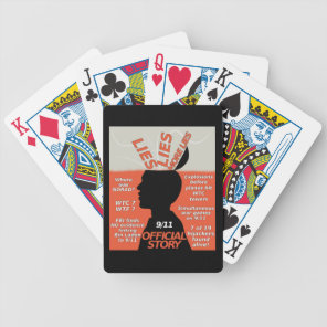 9-11 Truth Official Story Lies Bicycle Playing Cards