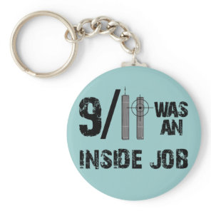 9-11 Truth Official Story Lies Keychain
