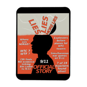 9-11 Truth Official Story Lies Magnet