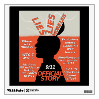 9-11 Truth Official Story Lies Wall Sticker