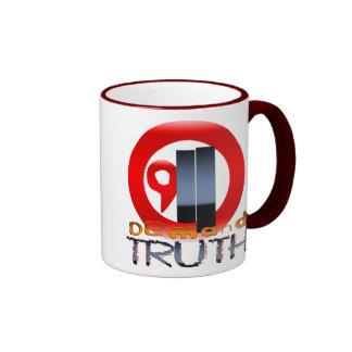 9/11 verdad de la demanda taza de dos colores