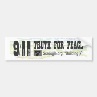 """9/11 verdad para la paz - Scroogle.org: """"Construye Pegatina De Parachoque"""