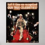 9/11 War - True Celebrities: Protest Poster