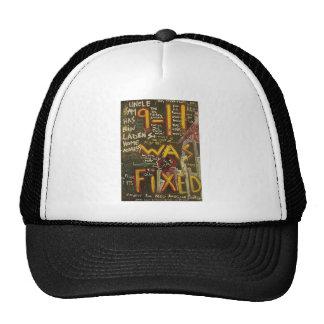 9-11 was fixed black trucker hat