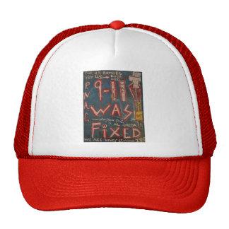 9-11 was fixed blue trucker hat