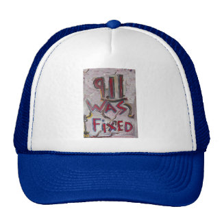 9-11 was fixed trucker hat