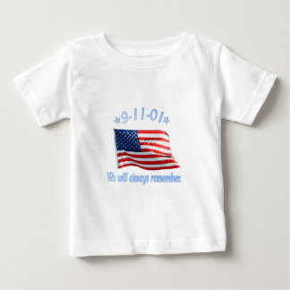 9-11 We Will Always Remember Baby T-Shirt