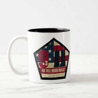 9-11 We Will Never Forget K9 SAR Mug Black