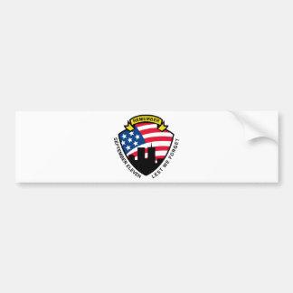 9-11 World Trade Center American Flag Shield Bumper Stickers