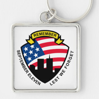 9-11 World Trade Center American Flag Shield Keychains